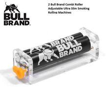 2 Bull Brand Combi Roller Adjustable Ultra Slim Smoking Rolling Machines