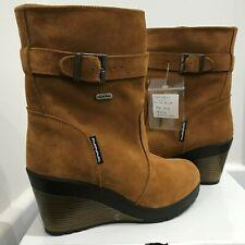 Mammal Ladies Wedge Boots Oc Anti Slip Spike Winter Brown Size 4