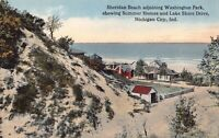 Postcard Sheridan Beach Washington Park Lake Shore Michigan City, Indiana~124957