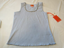 Hearts of Palm M sleeveless womens misses shirt tank top Chambry blue bling NWT