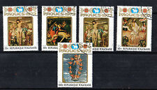 TOGO 1972 EASTER RELIGIOUS PAINTINGS SET OF ALL 5 COMMEMORATIVE STAMPS CTO