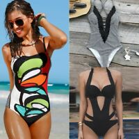 Women One Piece Bikini Swimwear Push Up Monokini Swimsuit Beachwear Bathing Suit