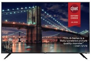 """(Price Negotiable)TCL 6-Series 55"""" 4K UHD HDR Dolby Vision LED Roku OS Smart TV"""