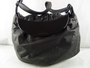 US seller Authentic GIORGIO ARMANI PUFFY LEATHER PLASTIC SHOULDER BAG usable+
