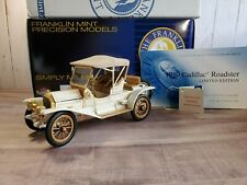 Franklin Mint 1910 Cadillac Roadster 1:24 Scale Diecast Model Car Limited
