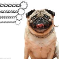 Dog Choker Choke Chain Lead Collar Strong Silver Metal Training Obedience Full