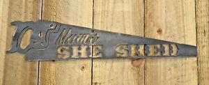 Mums She Shed Metal Sign Wall Art CNC Sign Shed Decor Metal Plague Saw Sign