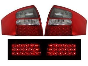 fit 1998-2001 Audi A6 Sedan LED Tail Lights Red Smoke DEPO PAIR