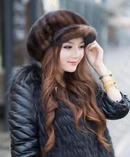 Winter Women Real New Mink Fur Hat Cap Headgear Beanie Beret QS 00031.2.1