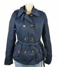 Only simple Short Trench Coat Bleu Taille M 38 (bi393)