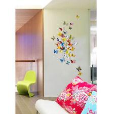 12pcs 3D Butterfly Sticker Art Design Decal Wall Decals Home Decor Magnet FR