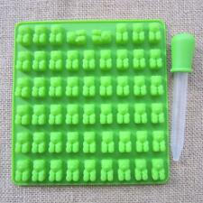 53 Cavity Chocolate Ice Tray Bear Silicone Maker Candy Mold Gummy Jelly Mould US