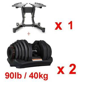 40 kG Adjustable Cast Iron Chrome Dumbbell Set