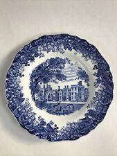 More details for vintage j&g meakin romantic england penshurst place kent haddon hall blue plate