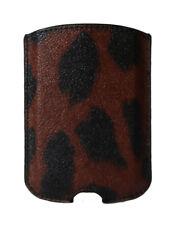 NEW DOLCE & GABBANA Phone Case Red Leopard Pattern Leather 11.5cm x 8cm