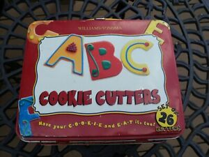 Williams-Sonoma Cookie Cutter Alphabet Letters & Lunch Box