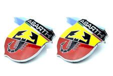 2pcs Auto Schriftzug Aufkleber Emblem Plakette für ABARTH Skorpion Shield