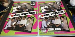 Lot of 2 One Direction Composition Notebooks Harry, Louis, Zayn, Liam, Niall 1D