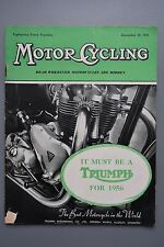 R&L Mag: Motor Cycling Dec 29 1955 Ariel  Four & Carmobile Sidecar/Zundapp 200S