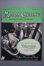 R&L Mag: Motor Cycling Dec 29 1955 Ariel  Four & Carmobile Sidecar/Zundapp 200S