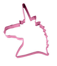 Girls Unicorn Head Shaped Pink Cookie Biscuit Cutter Unicorn Party Food