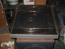 vintage turntable record player/Phillips Automatic/hinged cover/nice/works