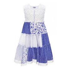 Domino Girl ' S 100% Cotton Estampado Multicolor Patchwork Ganchillo