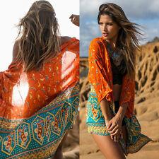 New Women Cover up Kaftan Dress Chiffon Sarong Swimwear Bikini Summer Beach Wear