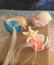 Xo Bouquets Seashell Ring Bearer Beach Wedding  David Bridal Colors