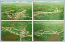 Ohio~OTP-14 Turnpike~Aerial View 4 Exchanges~c1960 Postcard
