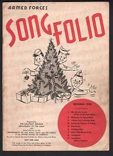 Armed Forces Song Folio 1955 Nine songs - Music and Lyrics Sheet Music