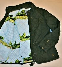 💙JOULES  Moredale'  UK12 Olive Quilted Warm Winter Jacket Coat Excellent!