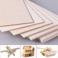 10pcs 300*100*(1-8)mm Wooden Plates Model Balsa Wood Sheet Board DIY House Craft