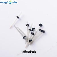 10pcs Dental Fiber Post Glass Material Straight Pile 1.0mm/1.4mm Black/Red Ring