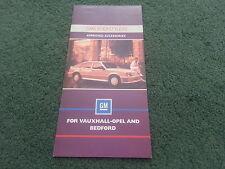 1986 GMS BODYSTYLERS Vauxhall Nova Astra Cavalier UK 6pg COLOUR FOLDER BROCHURE