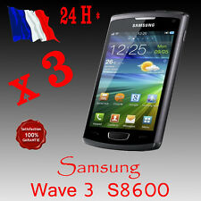 3x  FILM PROTECTEUR PROTECTION ECRAN  SAMSUNG WAVE 3 S8600  QUALITE SUP