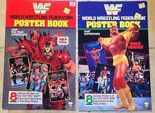 "WWF World Wrestling Federation Poster Books - Superstars & Tag Team 11""x17"" 1991"