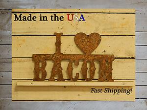 I Love Bacon-Kitchen Decor-Bacon Lover-I Heart Signs-Metal Wall Decor-S1026