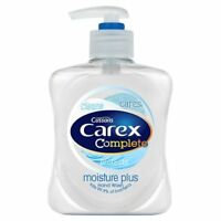3 X CAREX MOISTURE PLUS 250ML HAND WASH SOAP ANTI BACTERIAL LIQUID SOAP