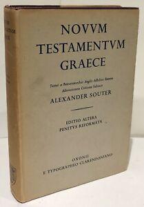 NOVUM TESTAMENTUM GRAECE Alexander Souter Greek/Latin 1956 h/b