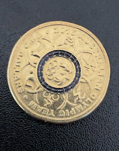 RARE 2016 Olympic $2 Coin Australian Two Dollars BLUE Colour
