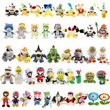 Super Mario Bros Captain Toad Koopalings Bowser Princess Plush Toy Optional