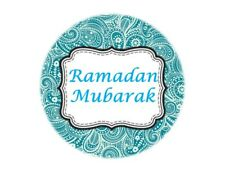 35 Ramadan Mubarak Stickers Muslim Islam Blue Paisley (667) Decorations Sticker
