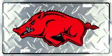 Arkansas Razorbacks Diamond License Plate Sign Made in the USA