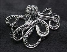 2/8/40pcs Wholesale DIY Tibetan Silver octopus Jewelry Charm Pendant 43x35mm S