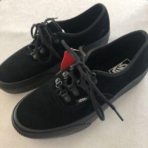 VANS Platform All Black Suede Sneakers Women's Size 9 Men's Size 7.5 PUNK GOTHIC