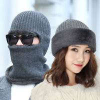 Knitted Winter Men Women Balaclava Face Cover Unisex Outdoor Ski Mask Hat Scarf