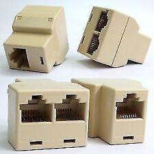 50 Pieces - Lan Splitter RJ45 Cat 5 Ethernet Cable Connector Jointer Coupler