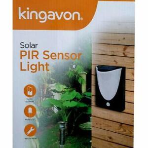 Solar PIR Sensor Light Garden Outdoor Path Step Patio Shed Lights Waterproof