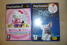 2 COMPLETE PLAYSTATION 2 PS2 GAMES HELLO KITTY ROLLER RESCUE CHARLOTTE'S WEB PAL